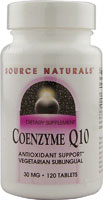 COENZYME Q10 SUBLINGUAL 30 MG PEPPERMINT 120 TABS