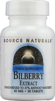 BILBERRY EXTRACT 50 MG 30 TABS
