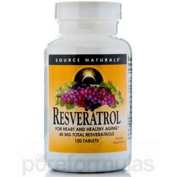 RESVERATROL 40MG 8% STANDARDIZED EXTRACT  120 TABLET