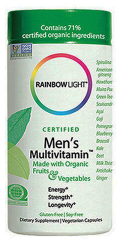 Mens Organic MultiVitamin  120 cap