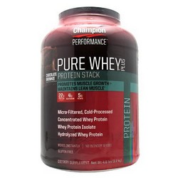 PURE WHEY PLUS CHOCOLATE BROWNIE  4.8 LB