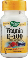VIT E 400 IU D-ALPHA W/TOCOPHEROLS 60 SOFTGELS