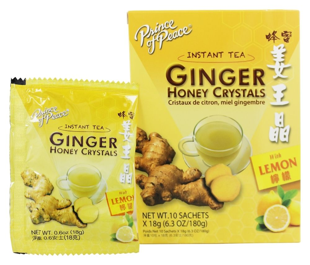 GINGER HONEY CRYSTALS WITH LEMON SACHETS  10 CT