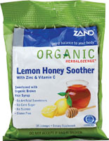 HERBALOZENGE ORGANIC HONEY LEMON  18 LOZ