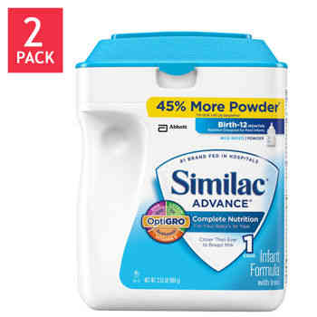 Similac Advance 2-Pack  34  OZ