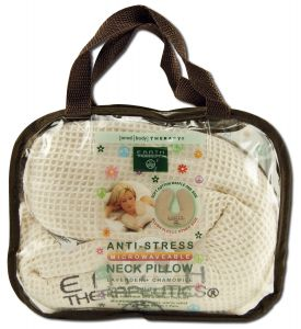 ANTI-STRESS UNSCENTED NECK PILLOW-TAN WAFFLE  1 UNIT
