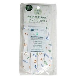 MOISTURIZING HAND GLOVES W/GARDEN PRINTS  1 PAIR