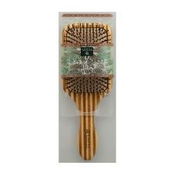 LARGE NYLON BRISTLE BAMBOO HAIR BRUSH  1 UNIT