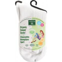 WOMEN'S CASUAL CREW SOCKS BONE  1 UNIT