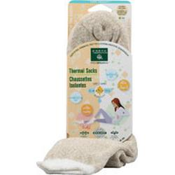 THERMAL DOUBLE LAYER SOCKS BEIGE/WHITE  1 UNIT