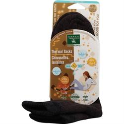 THERMAL DOUBLE LAYER SOCKS BROWN/BLACK  1 UNIT