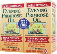 ROYAL BRITTANY EVENING PRIMROSE OIL 1300 MG 120 SG