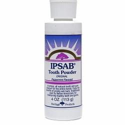 IPSAB TOOTH POWDER PEPPERMINT  4 OZ