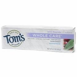 TOOTHPASTE WHOLE CARE W/FLUORIDE WINTERMINT  4.7 OZ
