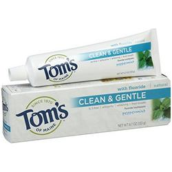 TOOTHPASTE CLEAN&GENTLE CARE SLS-FREE ANTICAVITY+WHITENING PEPPERMINT  4.7 OZ