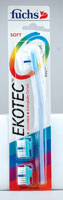 EKOTEC TOOTHBRUSH REPLACEABLE HEAD SOFT  3 CT