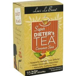 LACI LE BEAU SUPER DIETERS TEA CINNAMON SPICE  15 BAG