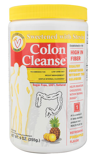 COLON CLEANSE ALL NATURAL SWEETENER PINEAPPLE/STEVIA POWDER  9 OZ