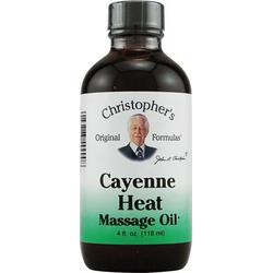 HEAL MASSAGE OIL CAYENNE HEAT  4 OZ