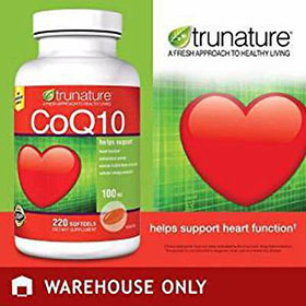 CoQ10 100mg, - Heart Support, Antioxidant Activity  220 Softgels