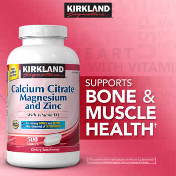 Signature Calcium Citrate 500 mg 500 Tablets