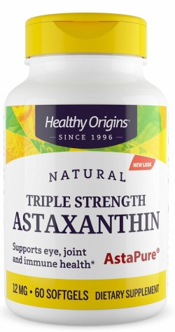ASTAXANTHIN 12MG (TRIPLE STRENGTH)  60 SOFTGEL