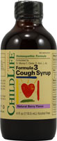 FORMULA 3 COUGH SYRUP NATURAL CHERRY  4 OZ