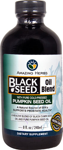 BLACK SEED WITH PUMPKIN SEED OIL BLEND  8 OZ