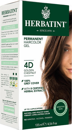 HERBATINT HAIR COLOR 4D GOLDEN CHESTNUT KIT 4.5OZ