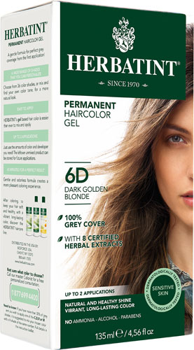 HERBATINT HAIR COLOR 6D DARK GOLDEN BLOND KIT 4.5OZ