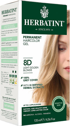 HERBATINT HAIR COLOR 8D LIGHT GOLDEN BLOND KIT 4.5OZ