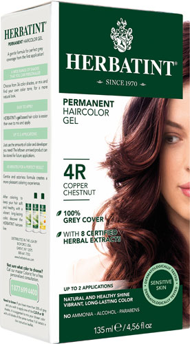 HERBATINT HAIR COLOR 4R COPPER CHESNUT KIT 4.5OZ