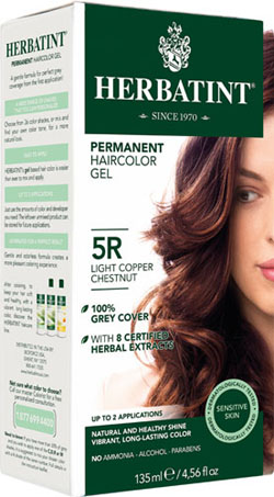 HERBATINT HAIR COLOR 5R LIGHT COPPER CHESNUT KIT 4.5OZ