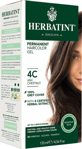 HAIR COLOR 4C ASH CHESTNT KIT 4.5OZ
