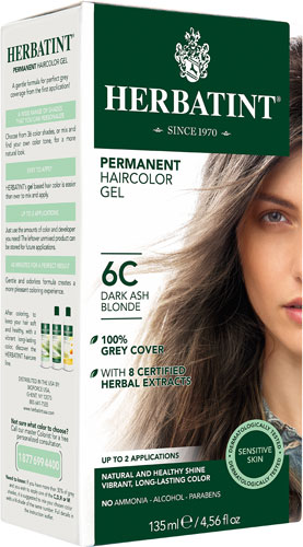 HERBATINT HAIR COLOR 6C DARK ASH BLOND KIT 4.5OZ