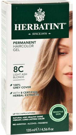 HERBATINT HAIR COLOR 8C LIGHT ASH BLOND KIT 4.5OZ