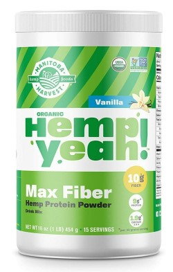 HEMP ORGANIC PROTEIN POWDER VANILLA  16 OZ
