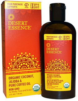 ORGANIC COCONUT, JOJOBA, & COFFEE OIL  4 OZ