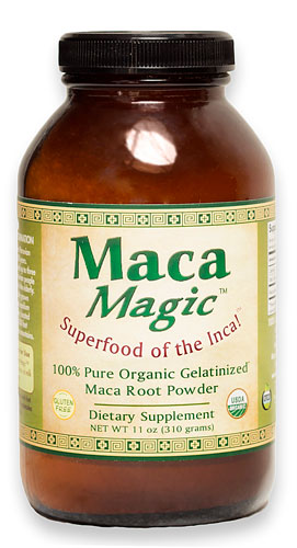 ORGANIC MACA MAGIC POWDER JAR 11 OZ